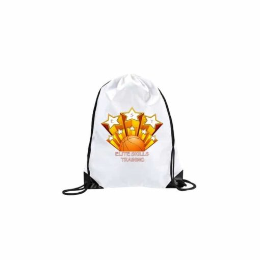 Sac de gym blanc personalisable