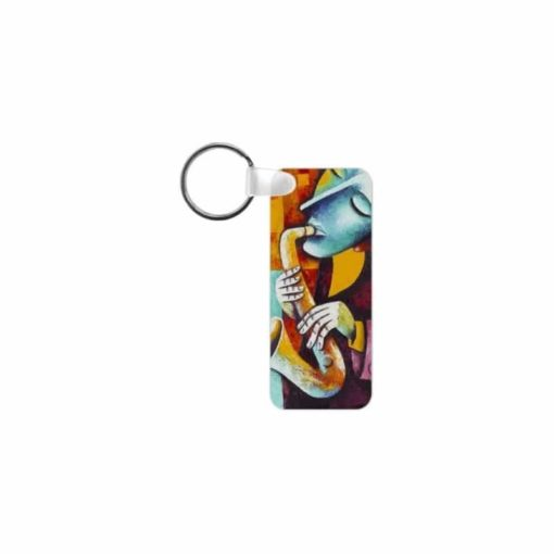 Porte clef rectangulaire (fibre de verre)